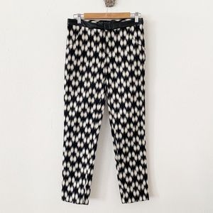 Yigal Azrouel Rare Jacquard Print Leather Trimmed